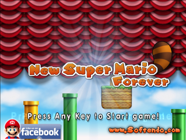 New Mario Forever 2012 Title Screen Starts