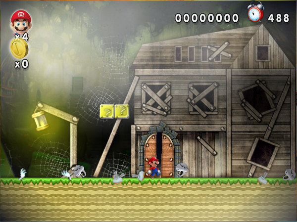 New Mario Forever Ghost House Entrance