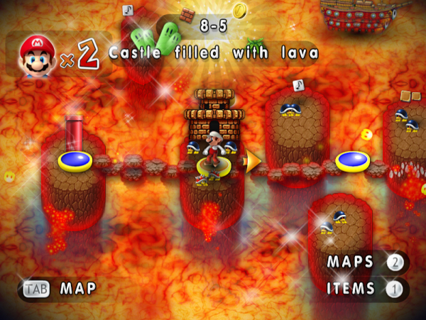 New Mario Foever - Lava Map